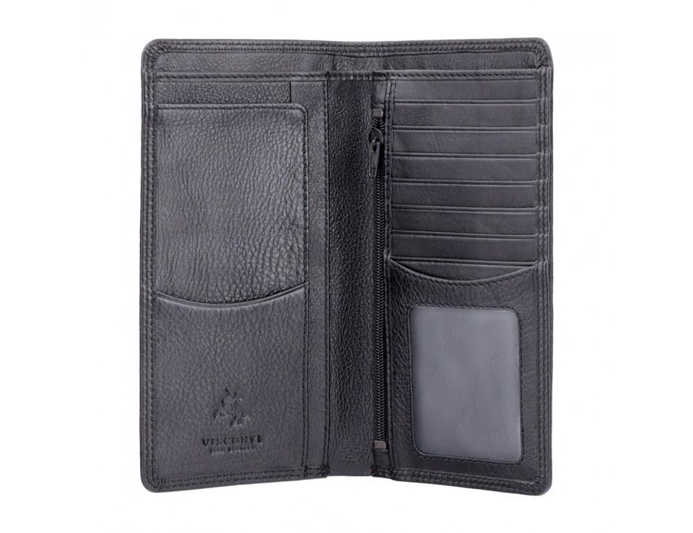 Чёрный кожаный портмоне мужской HT12 BLK Big Ben c RFID - Фото № 2