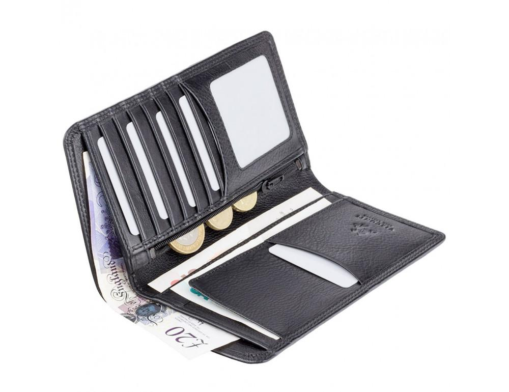 Чёрный кожаный портмоне мужской HT12 BLK Big Ben c RFID - Фото № 4