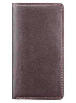 Коричневый кошелек мужской Visconti HT12 CHOC Big Ben c RFID