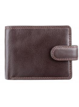 Коричневий чоловічий шкіряний гаманець Visconti HT13 Strand choc