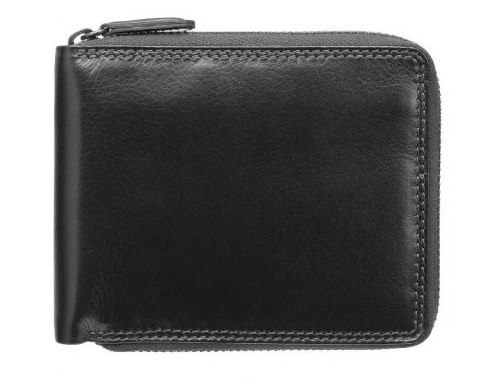 Чёрный маленький кошелек Visconti HT14 BLK Camden c RFID - Фото № 1