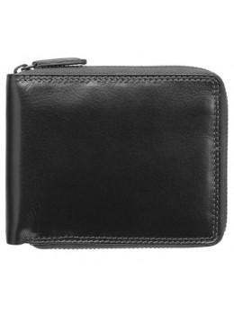 Чёрный маленький кошелек Visconti HT14 BLK Camden c RFID