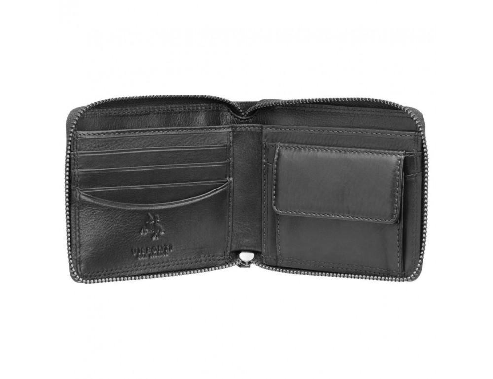 Чёрный маленький кошелек Visconti HT14 BLK Camden c RFID - Фото № 2