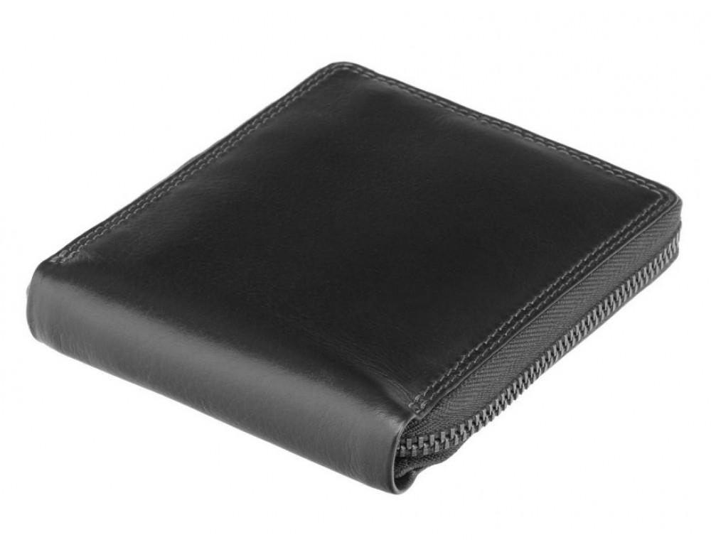 Чёрный маленький кошелек Visconti HT14 BLK Camden c RFID - Фото № 3