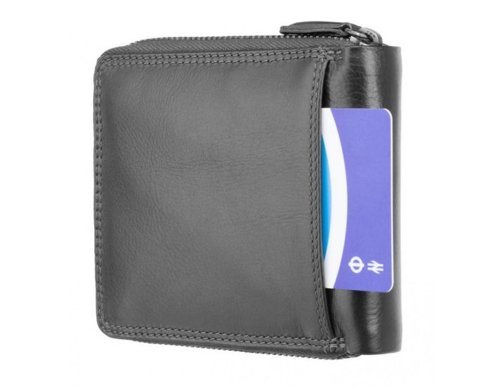 Чёрный маленький кошелек Visconti HT14 BLK Camden c RFID - Фото № 4