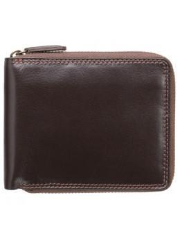 Тёмно-коричневый маленький кошелек Visconti HT14 CHOC Camden c RFID