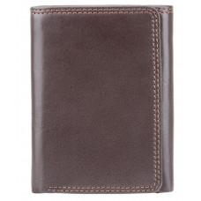 Тёмно-коричневый портмоне Visconti HT18 CHOC Compton c RFID