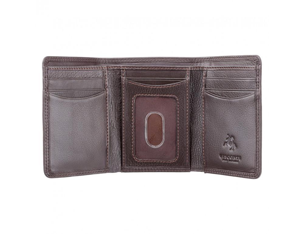 Тёмно-коричневый портмоне Visconti HT18 CHOC Compton c RFID - Фото № 2