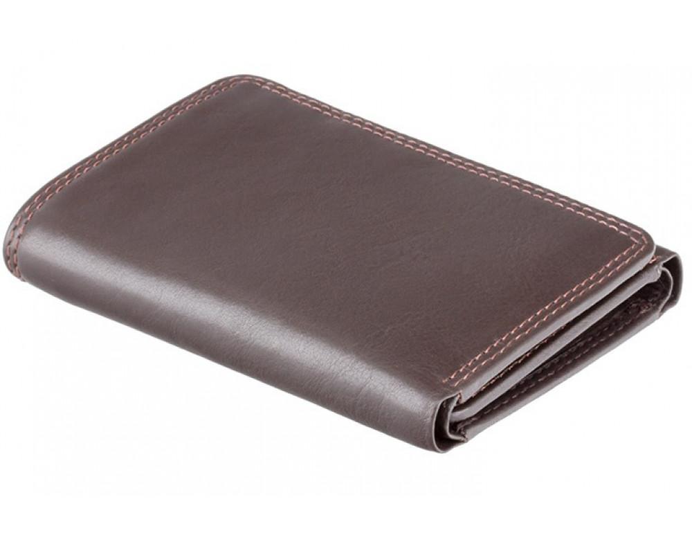 Тёмно-коричневый портмоне Visconti HT18 CHOC Compton c RFID - Фото № 3