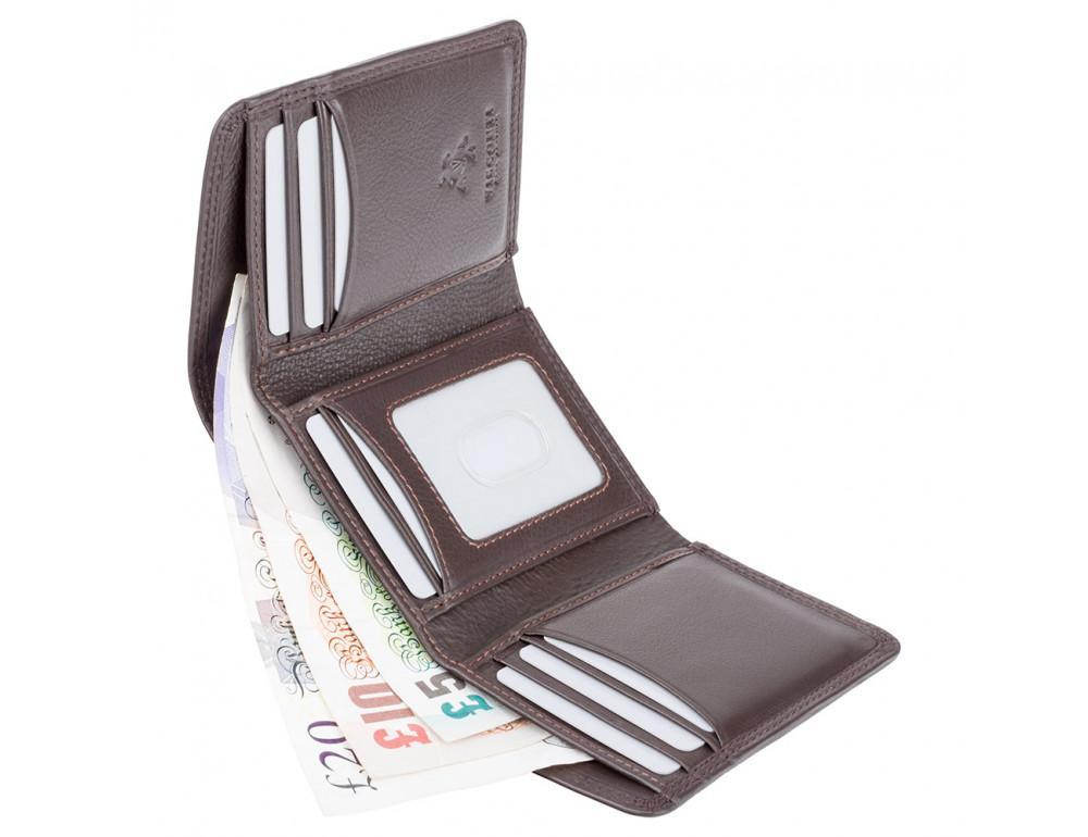 Тёмно-коричневый портмоне Visconti HT18 CHOC Compton c RFID - Фото № 4