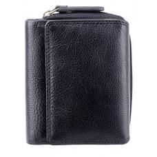 Чорний шкіряний гаманець жіночий Visconti HT30 BLK Kew c RFID