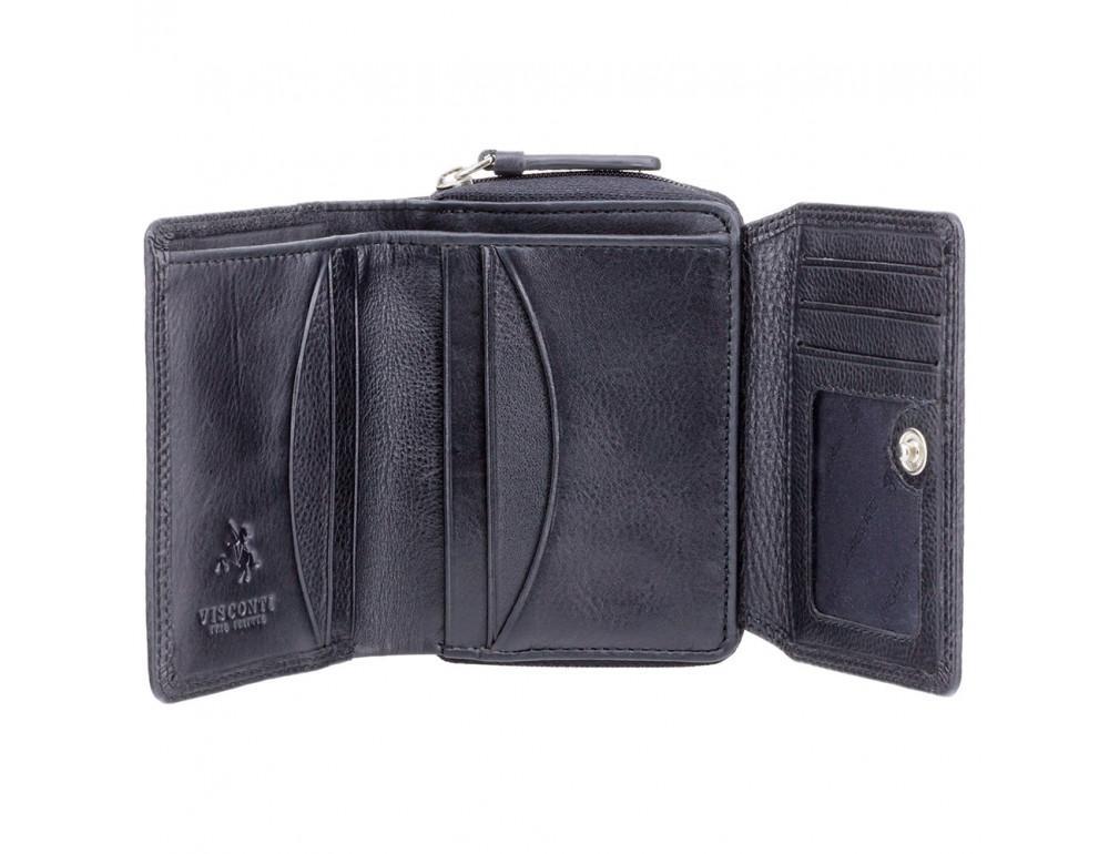 Чёрный кожаный кошелёк женский Visconti HT30 BLK Kew c RFID - Фото № 2