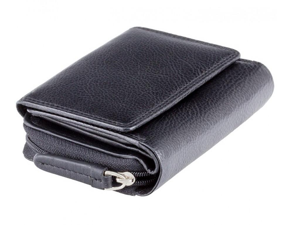 Чёрный кожаный кошелёк женский Visconti HT30 BLK Kew c RFID - Фото № 3