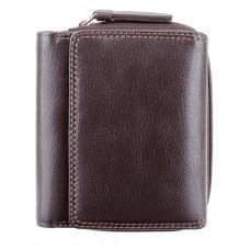 Тёмно-коричневый кожаный кошелёк женский Visconti HT30 CHOC Kew c RFID