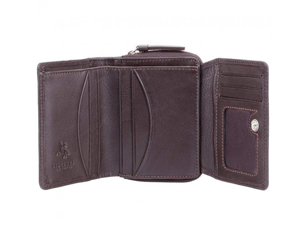 Тёмно-коричневый кожаный кошелёк женский Visconti HT30 CHOC Kew c RFID - Фото № 2