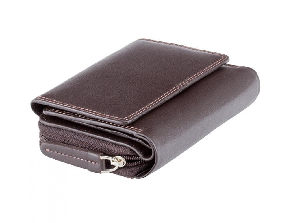 Тёмно-коричневый кожаный кошелёк женский Visconti HT30 CHOC Kew c RFID - Фото № 3