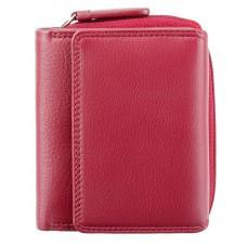 Красный кожаный кошелек маленьких размеров Visconti HT30 RED Kew c RFID