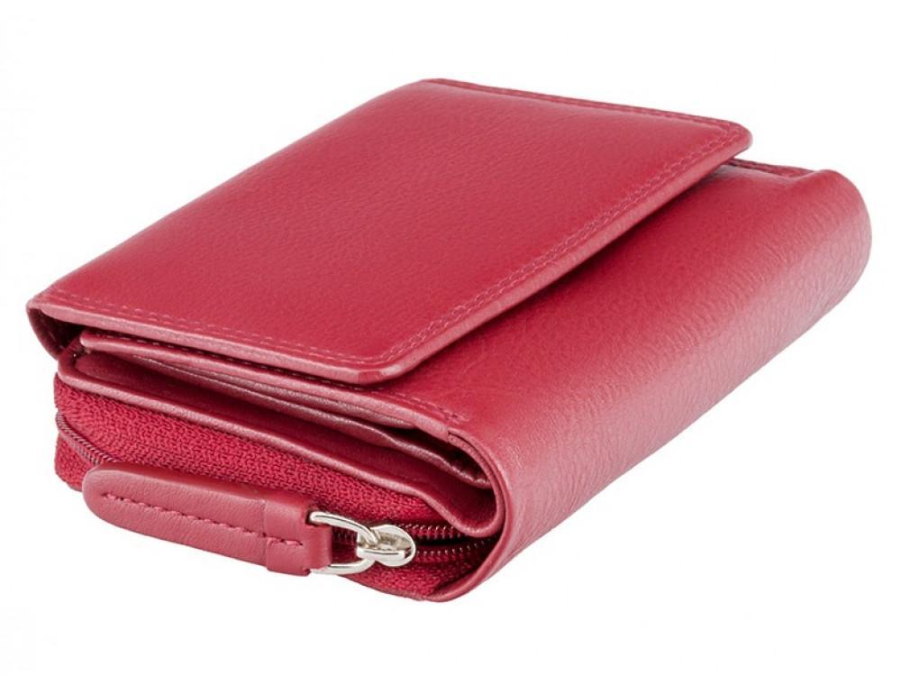 Красный кожаный кошелек маленьких размеров Visconti HT30 RED Kew c RFID - Фото № 3