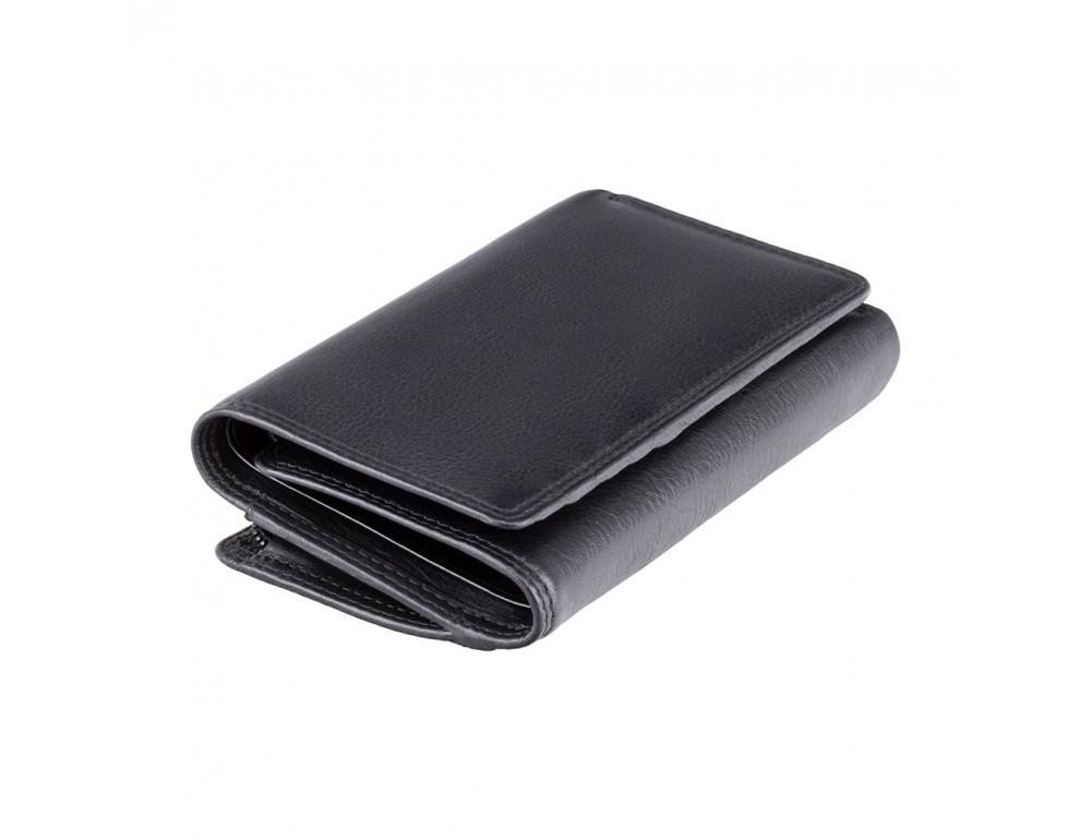 Чёрный женский кошелёк вертикальный Visconti HT32 BLK Picadilly c RFID - Фото № 3