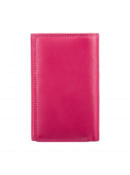Женский кожаный кошелёк Visconti HT32 FCS Picadilly c RFID цвета фуксия