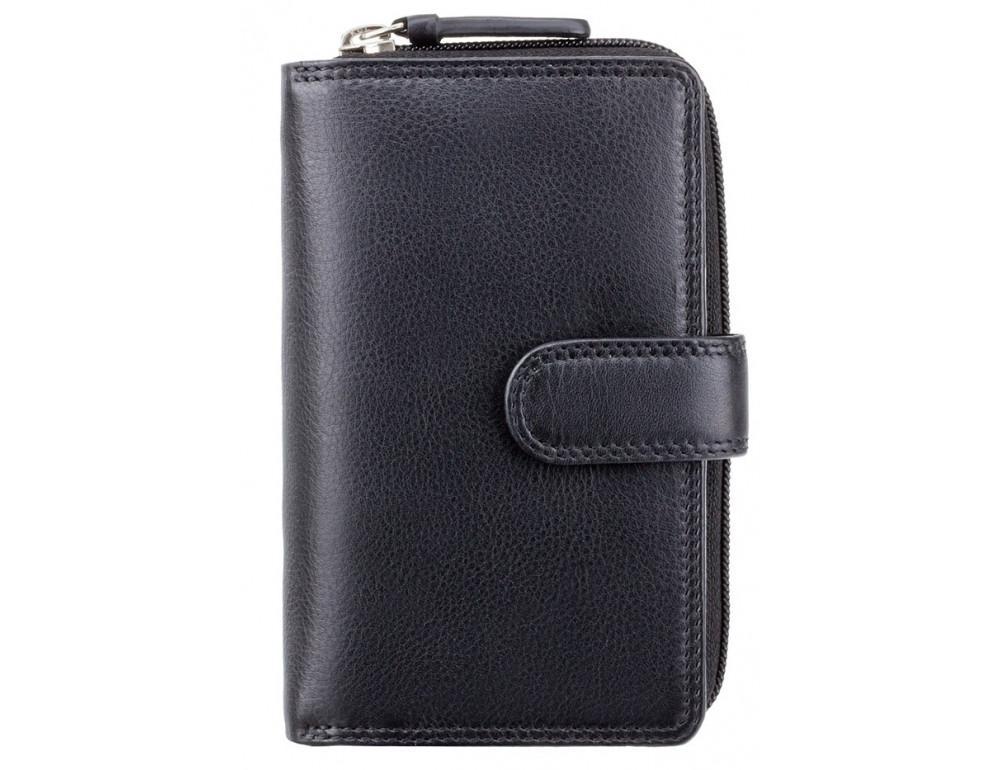 Чёрный кошелек женский Visconti HT33 BLK Madame c RFID - Фото № 1