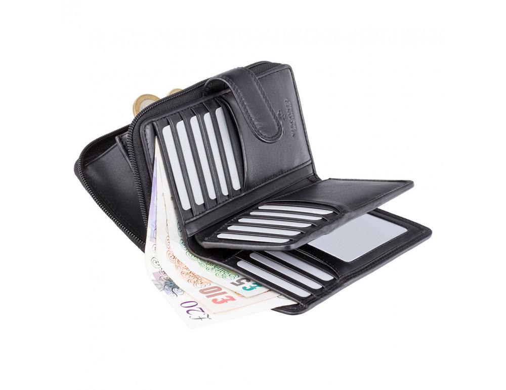 Чёрный кошелек женский Visconti HT33 BLK Madame c RFID - Фото № 3
