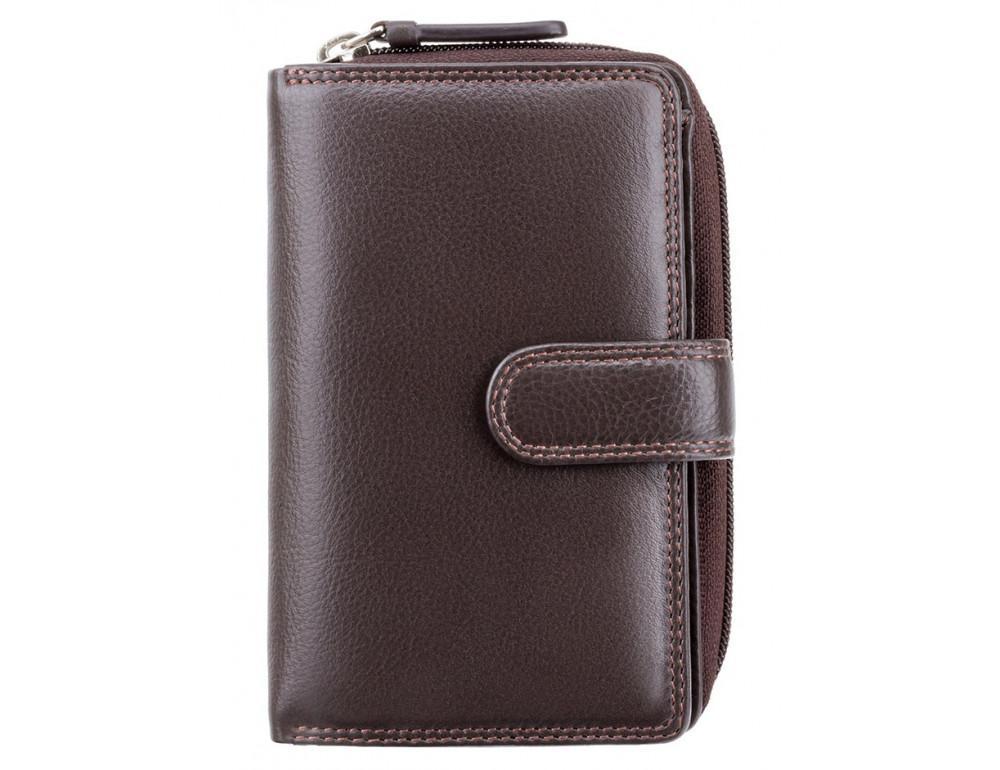 Тёмно-коричневый кожаный кошелек Visconti HT33 CHOC Madame c RFID - Фото № 1