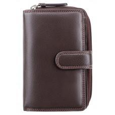 Тёмно-коричневый кожаный кошелек Visconti HT33 CHOC Madame c RFID