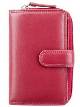 Красный кожаный женский Visconti HT33 RED Madame c RFID
