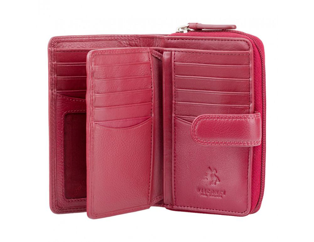 Красный кожаный женский Visconti HT33 RED Madame c RFID - Фото № 2