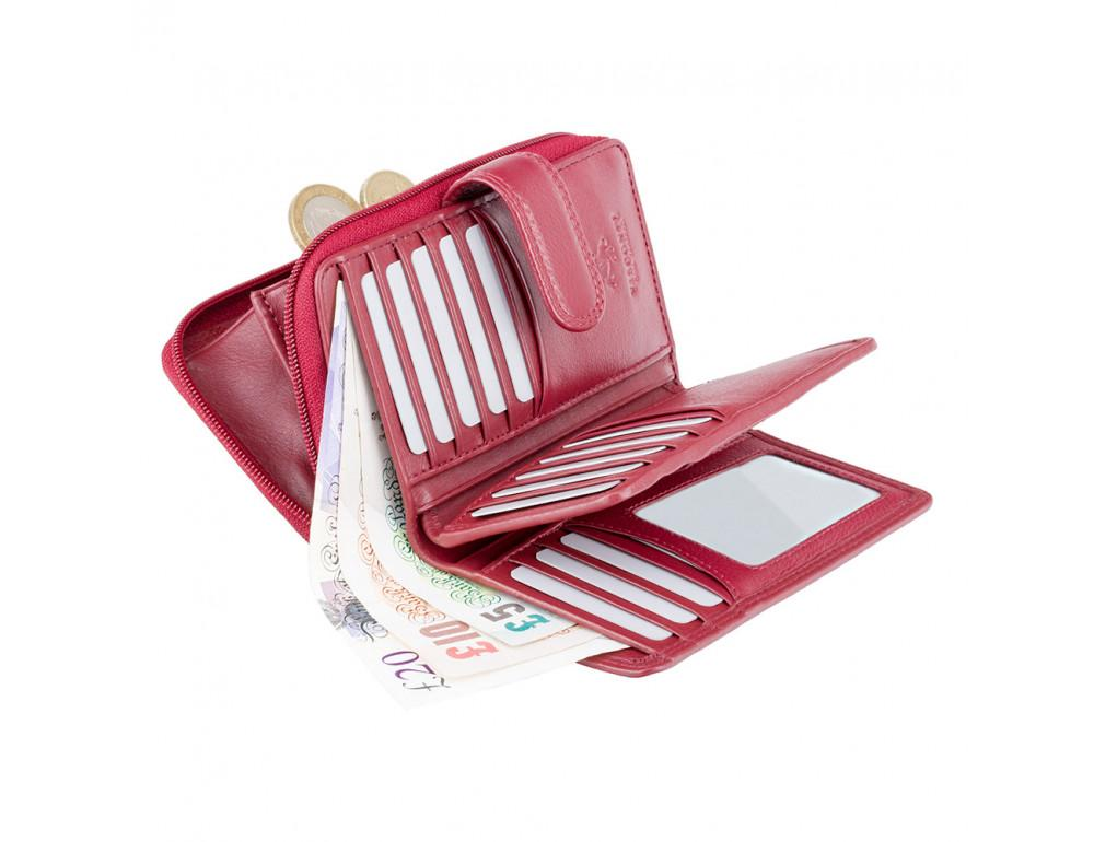 Красный кожаный женский Visconti HT33 RED Madame c RFID - Фото № 4