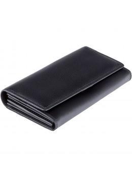 Великий жіночий гаманець на магніті Visconti HT35 BLK Buckingham c RFID (Black)