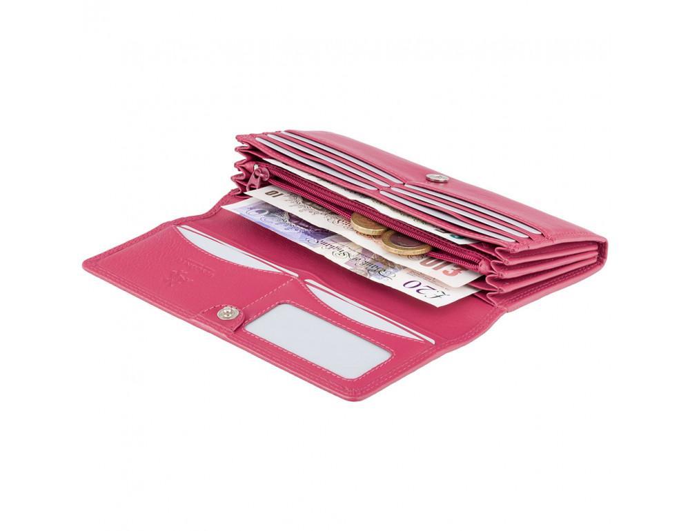 Большой женский кошелёк цвета фуксия Visconti HT35 FCS Buckingham c RFID (Fuchsia) - Фото № 2