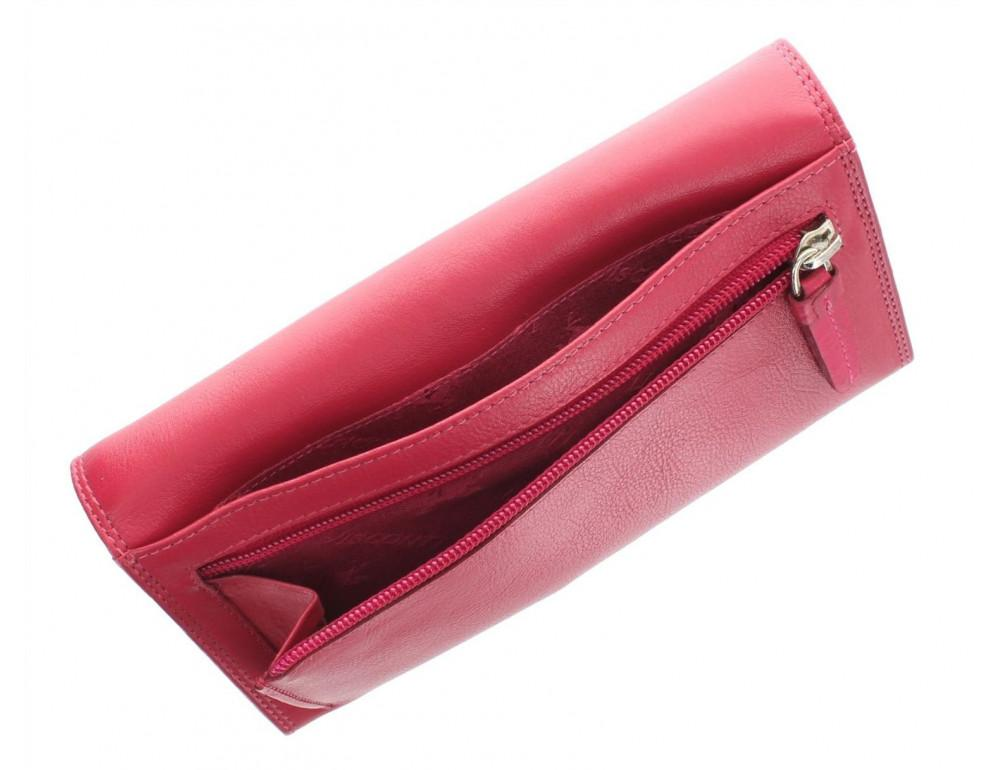 Большой женский кошелёк цвета фуксия Visconti HT35 FCS Buckingham c RFID (Fuchsia) - Фото № 5