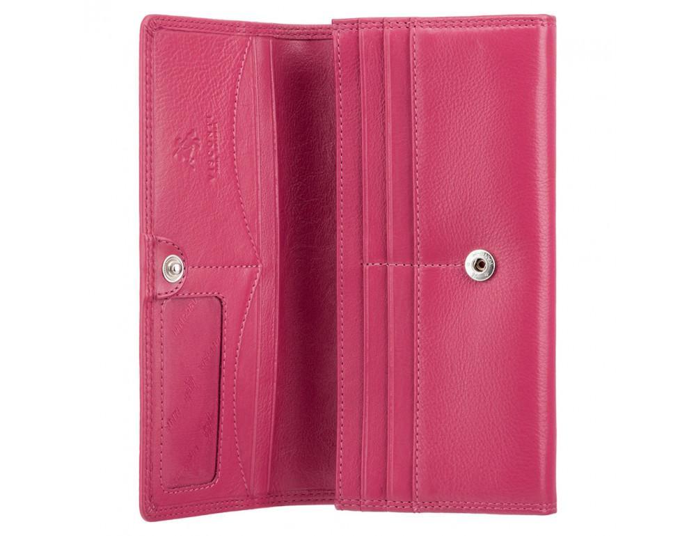Большой женский кошелёк цвета фуксия Visconti HT35 FCS Buckingham c RFID (Fuchsia) - Фото № 6