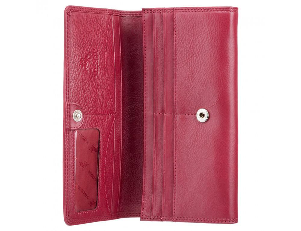 Красный женский кошелёк большого размера Visconti HT35 RED Buckingham c RFID (Red) - Фото № 2