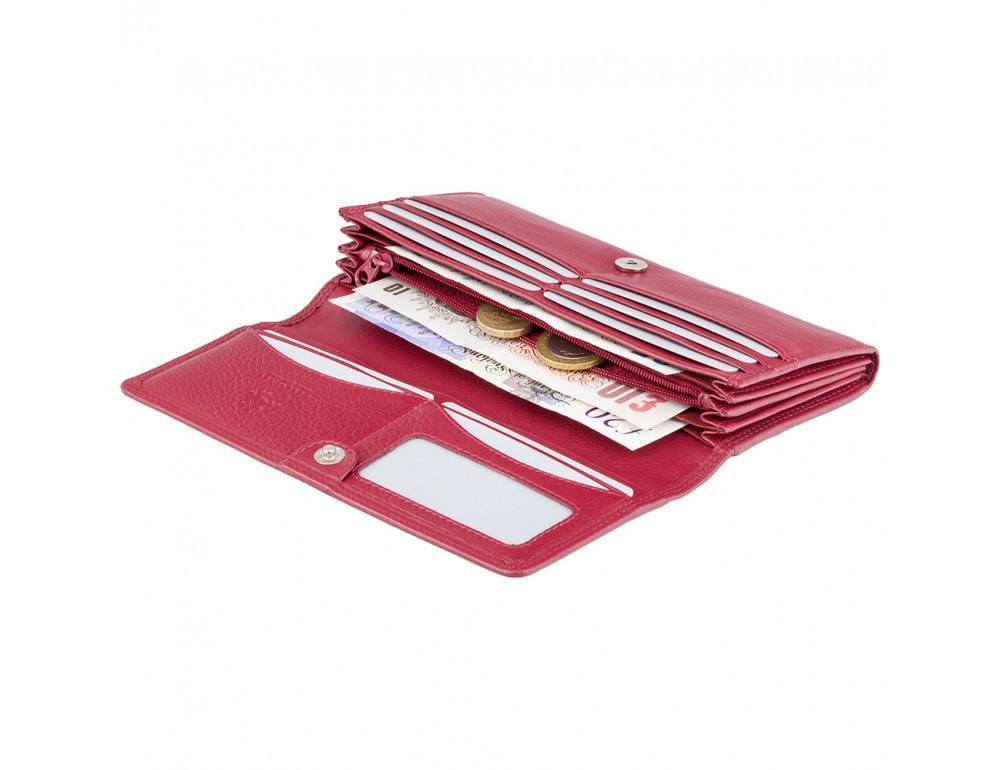 Красный женский кошелёк большого размера Visconti HT35 RED Buckingham c RFID (Red) - Фото № 3