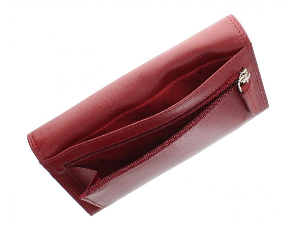 Красный женский кошелёк большого размера Visconti HT35 RED Buckingham c RFID (Red) - Фото № 7