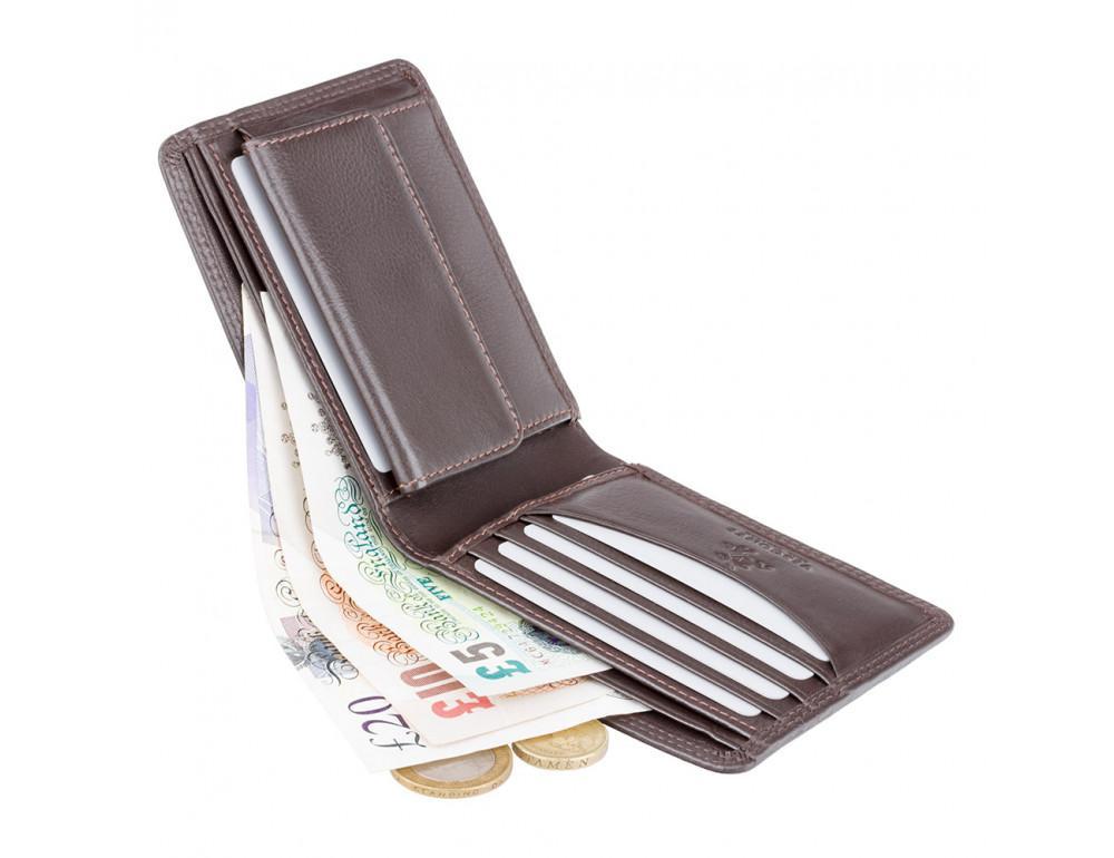 Стильный мужской бумажник Visconti HT7 CHOC Heritage коричневый - Фото № 2