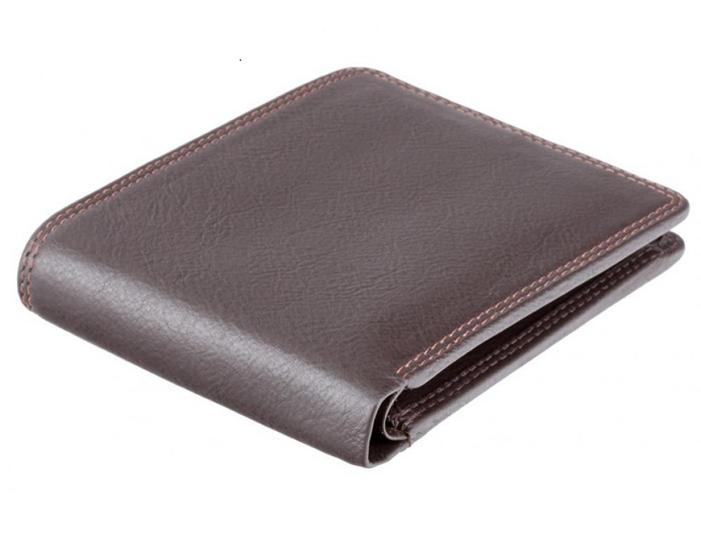 Стильный мужской бумажник Visconti HT7 CHOC Heritage коричневый - Фото № 4
