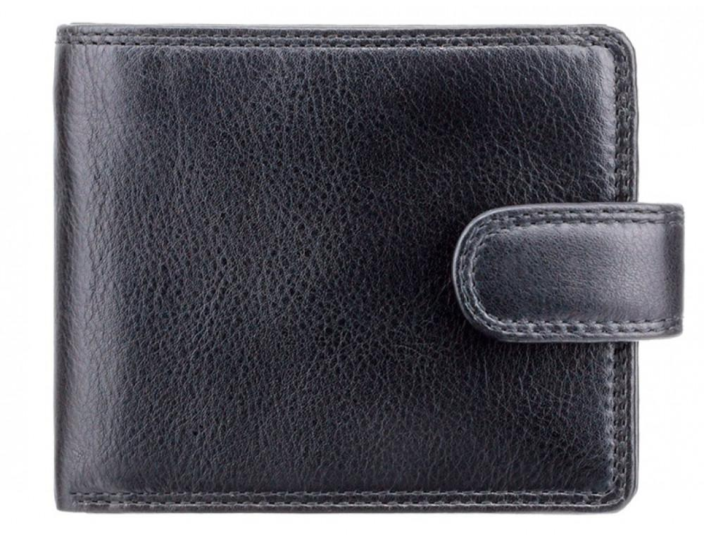 Мужской кожаный кошелек Visconti HT9 BLK Черный  - Фото № 1
