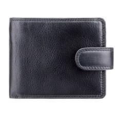 Мужской кожаный кошелек Visconti HT9 BLK Черный