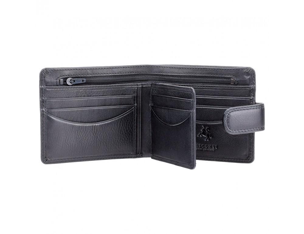 Мужской кожаный кошелек Visconti HT9 BLK Черный  - Фото № 2