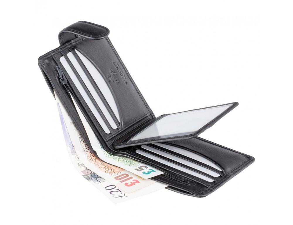 Мужской кожаный кошелек Visconti HT9 BLK Черный  - Фото № 4