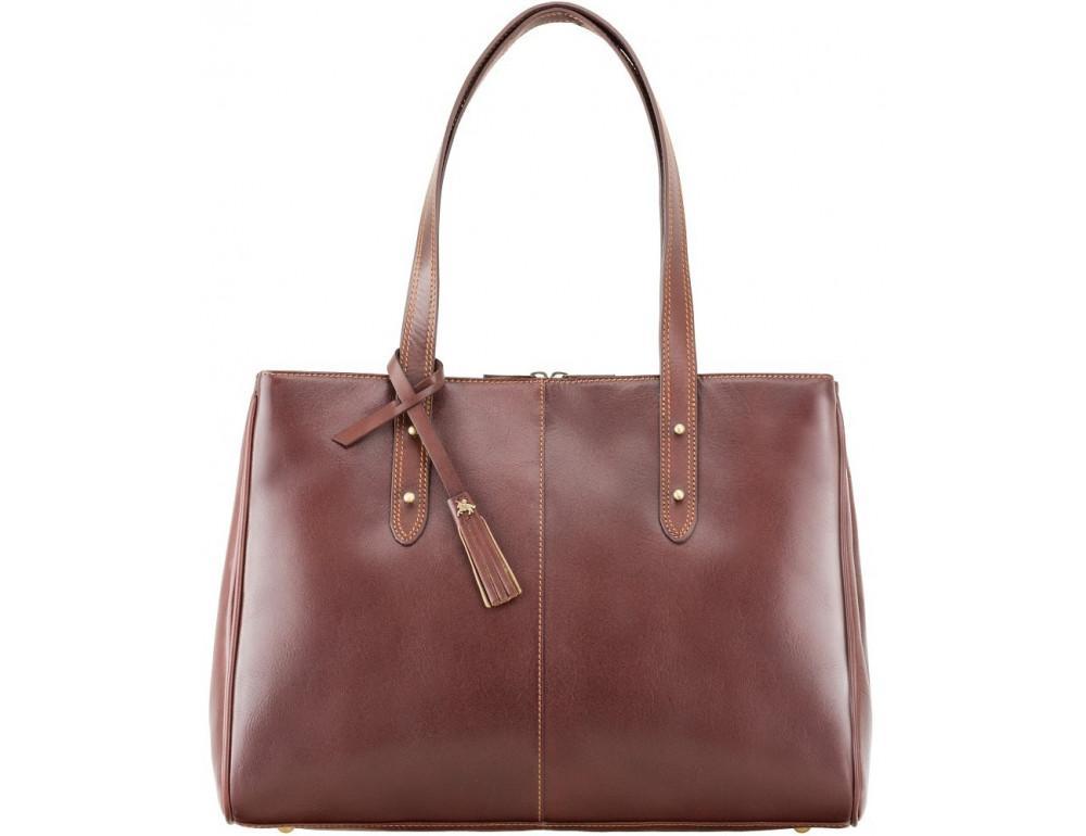 Коричневая кожаная сумка для женщин Visconti ITL80 TAN - Фото № 1