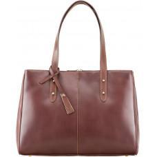 Коричневая кожаная сумка для женщин Visconti ITL80 TAN