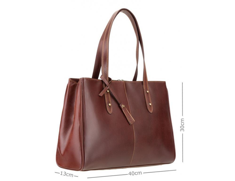 Коричневая кожаная сумка для женщин Visconti ITL80 TAN - Фото № 2