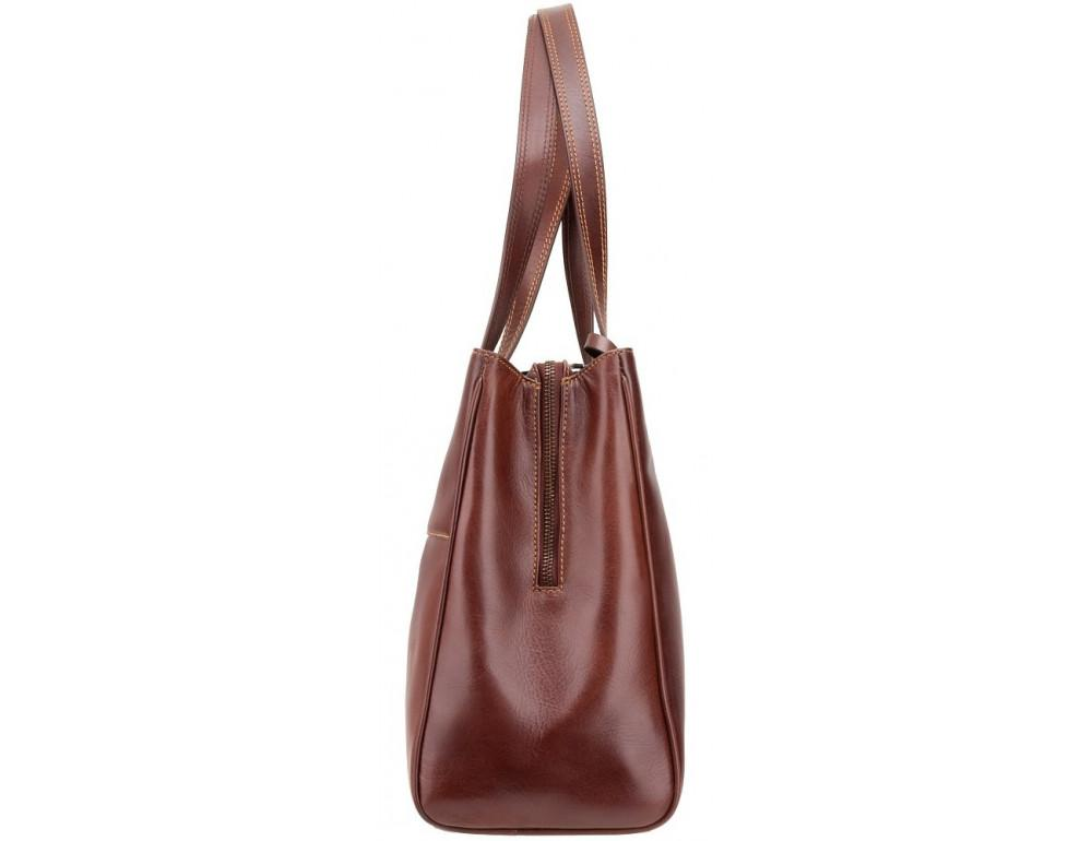 Коричневая кожаная сумка для женщин Visconti ITL80 TAN - Фото № 3