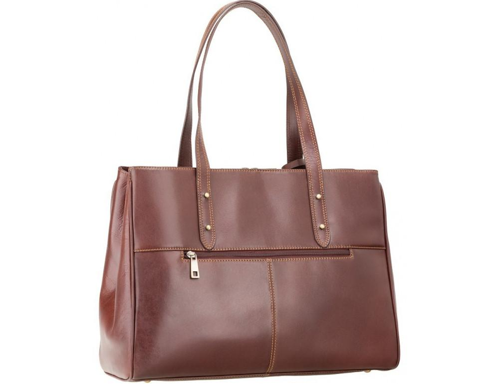 Коричневая кожаная сумка для женщин Visconti ITL80 TAN - Фото № 4