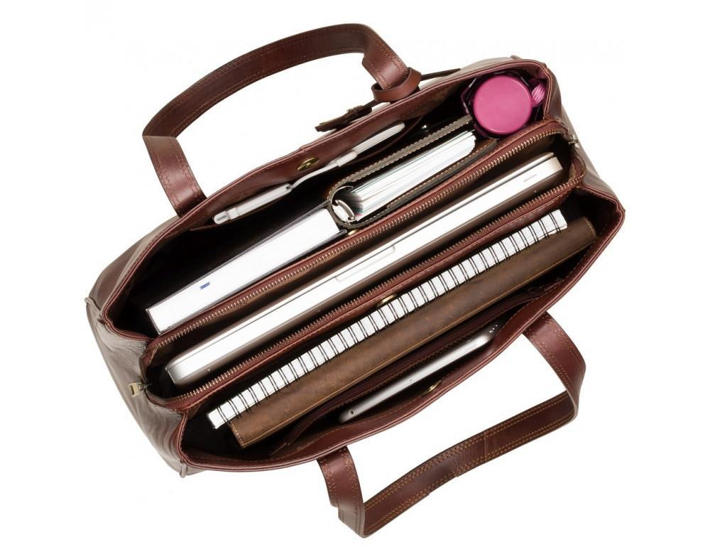 Коричневая кожаная сумка для женщин Visconti ITL80 TAN - Фото № 5